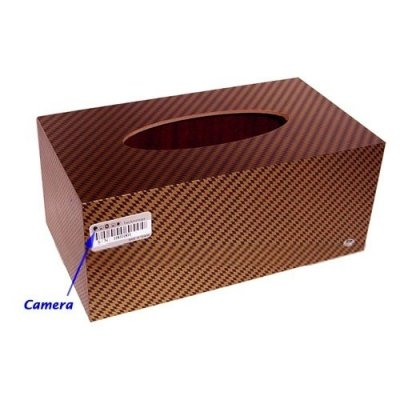 4GB Tissue Box Style Digital Video Recorder with Hidden Pinhole Color Camera